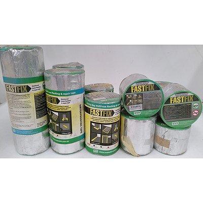 Fastfix Aluminium Reiforced Butyl Flashing Tape  - Lot of 13 Rolls - Brand New - RRP $550.00