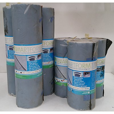 Smartform Flexible Roof Flashing and All Purpose Repair Tape  - Lot of Six Rolls - New - RRP $750.00