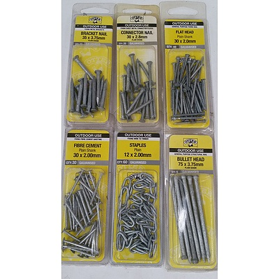 Selection of Otter Brand Nails and Staples - New