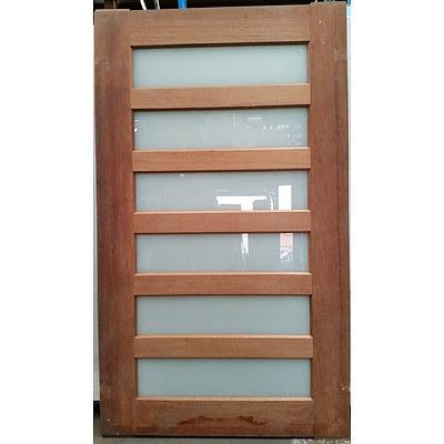 Corinthian Doors Infinity Translucent Entry Door (2040mm x 1200mm x 40mm) - New