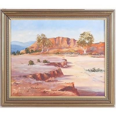 M.E.Clarks Australian Landscape Oil on Board