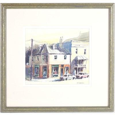 Phillip Martin Balmain Street Scene Watercolour