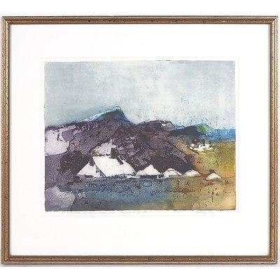 J.M.Hyde Ballamona? Woolshed and Sheariri? Huts Flinders? Range 5A 1983 Artist Proof Lithograph ***