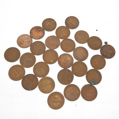 Twenty Six George V Australian Pennies