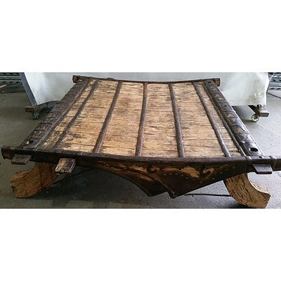 Antique Middle Eastern Tribal Caravan Table