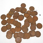Fifty George VI Australian Pennies
