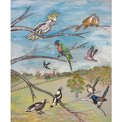 Painting: A Selection of Australian birds by Annette Schneider
