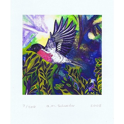 Set of 3 portrait format Australian bird prints