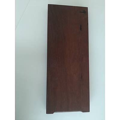 Large hardwood cutting board made from recycled timbers