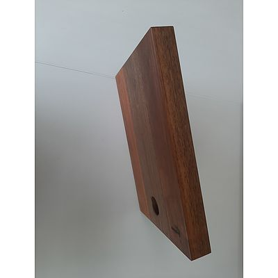 Small hardwood cutting board made from recycled timbers