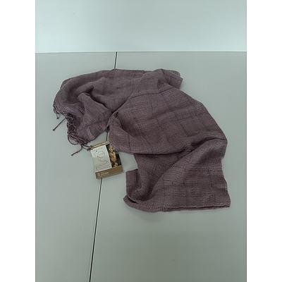 100% organic wild silk scarf, made in Ethiopia