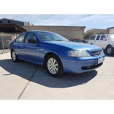 10/2003 Ford Falcon Futura BA 4d Sedan Blue 4.0L