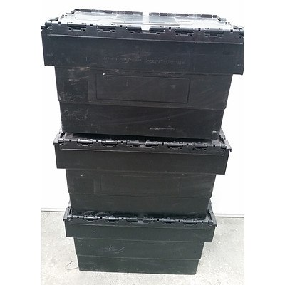 Schoeller Arca Systems Integra Ultimate Storage Crates - Lot of Three