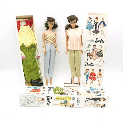 Two Vintage Barbie 'Genuine Teen Age Fashion Models' By Mattel In Box