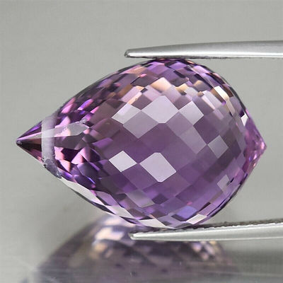 Natural Briolette-Cut Amethyst