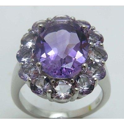 Sterling Silver Ring: Amethyst-Purple & Lilac