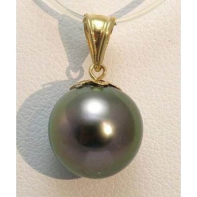 18Ct Gold Tahitian Pearl Pendant