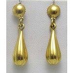 Italian 18Ct Gold Drop Earrings