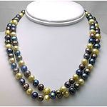 Cultured Pearl Necklace - Multi Coloured