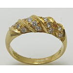 18Ct Gold Diamond Ring: Stamped [18Ct]