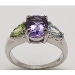 Sterling Silver Natural Gem Dress Ring