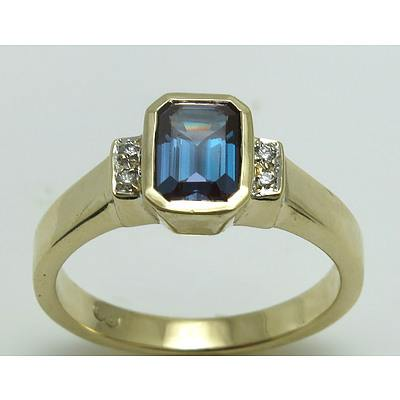 "9Ct Gold ""Synthetic Alexandrite"" Ring"