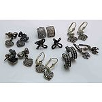 Collection Of 8 Sterling Silver Earrings