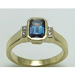 """9Ct Gold """"Synthetic Alexandrite"""" Ring"""