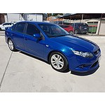 4/2009 Ford Falcon XR6 FG 4d Sedan Blue 4.0L
