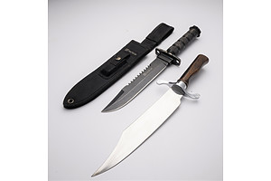 Tactical Survival Knife With Sheath and Decorative Dagger Made in USA