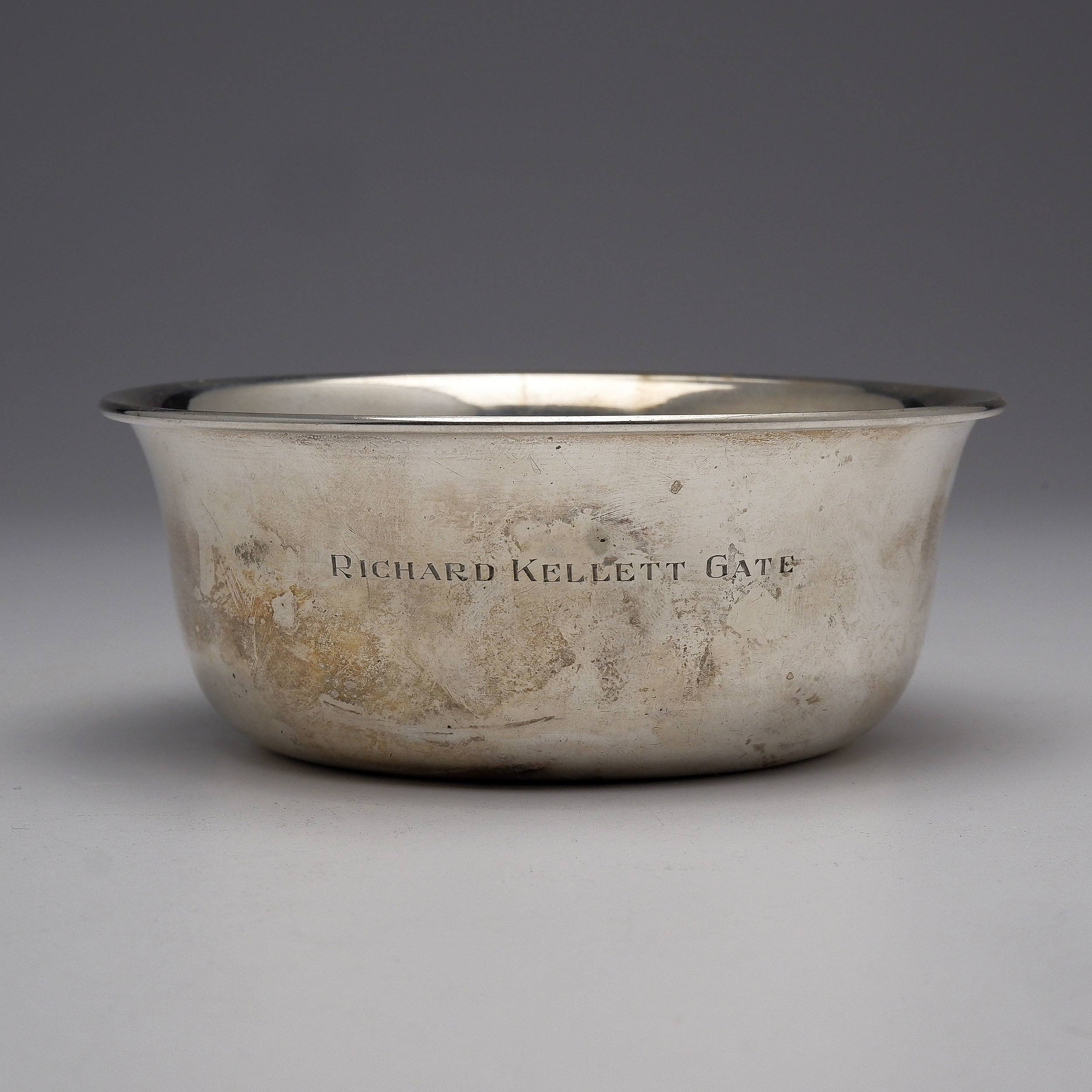'Australian Crested and Engraved Sterling Silver Bowl with Emu Hallmark, 146g'