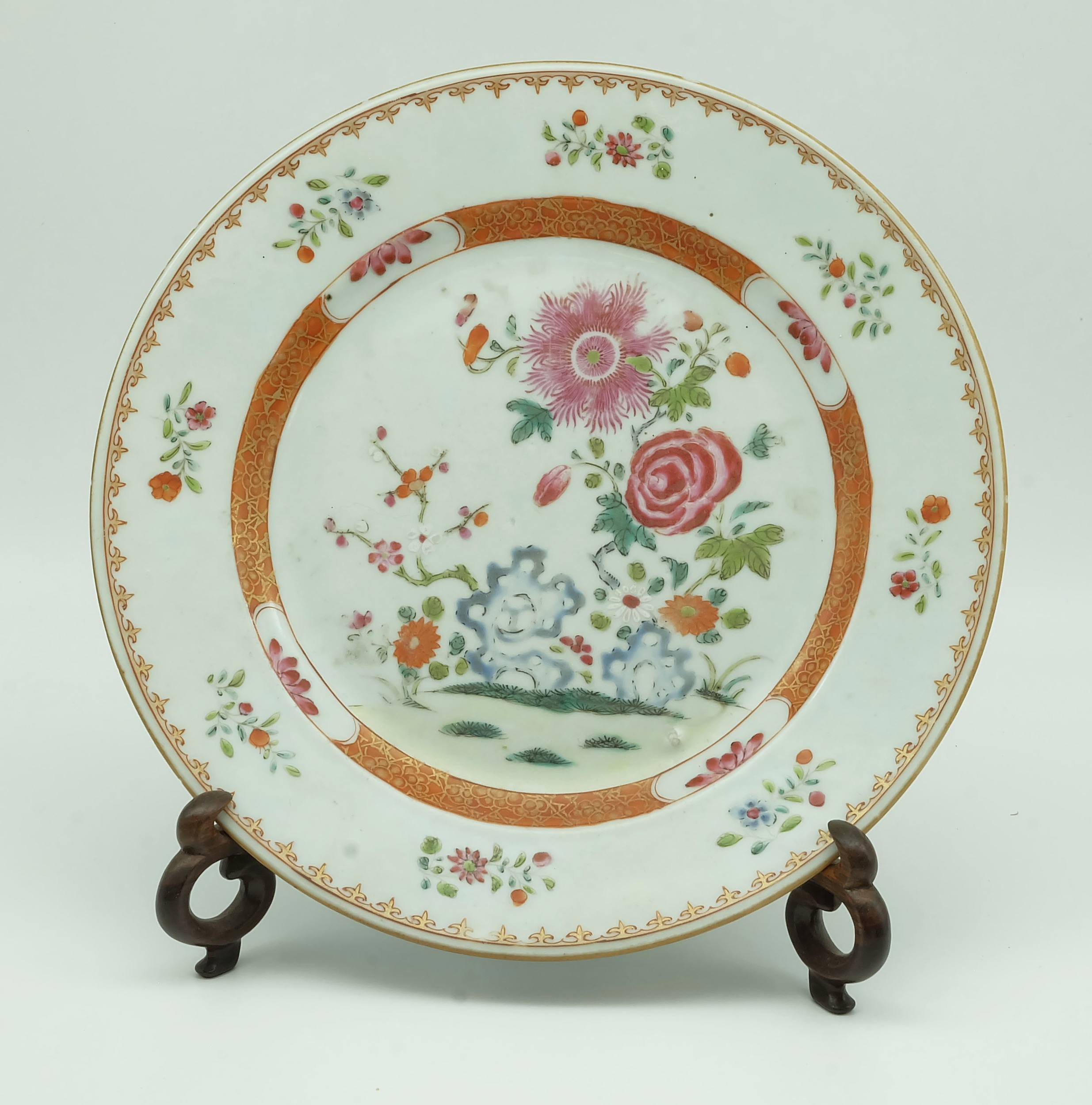 '18th Century Chinese Export Famille Rose Plate'