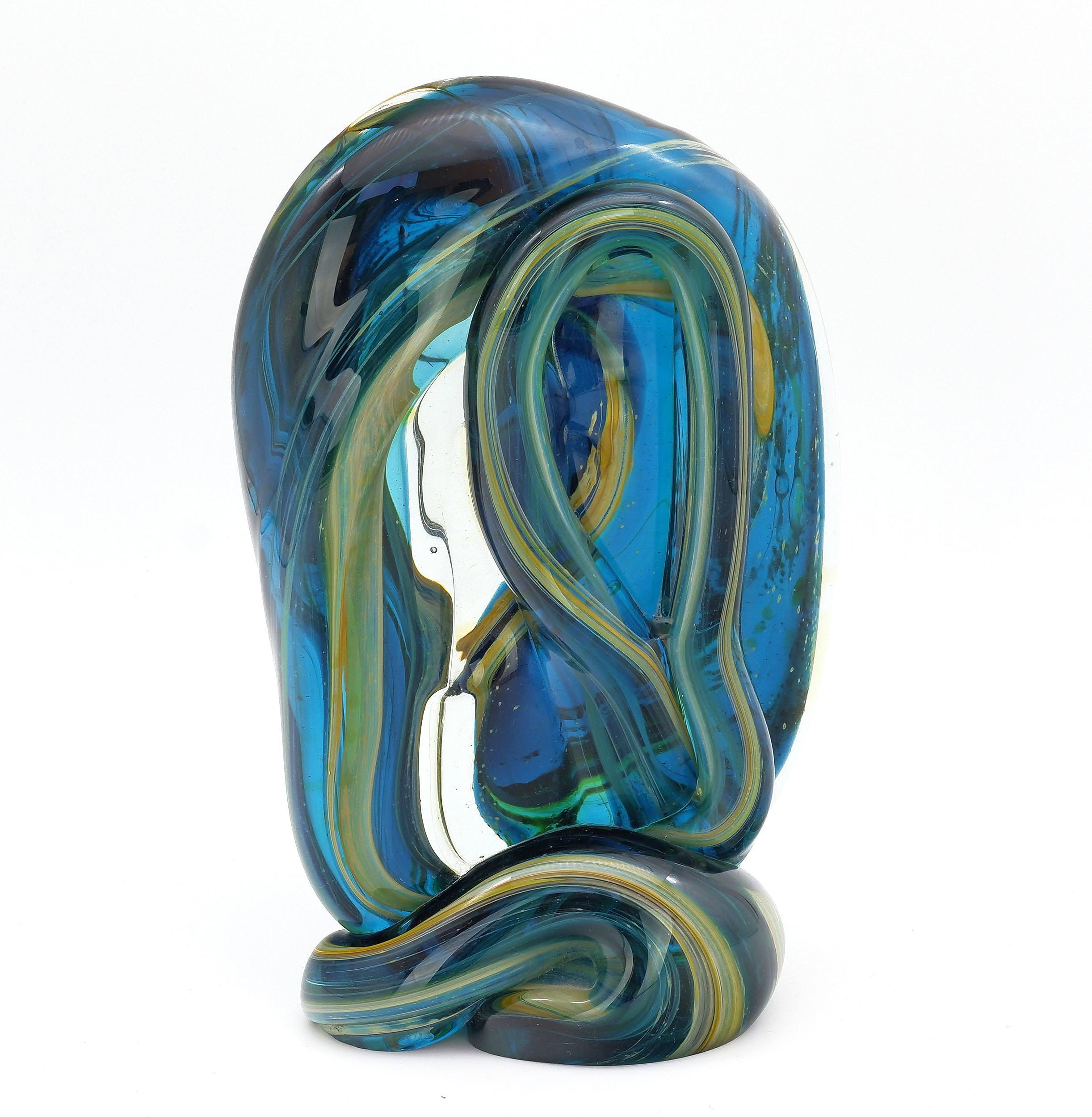 'Maltese Mdina Glass Sculpture '