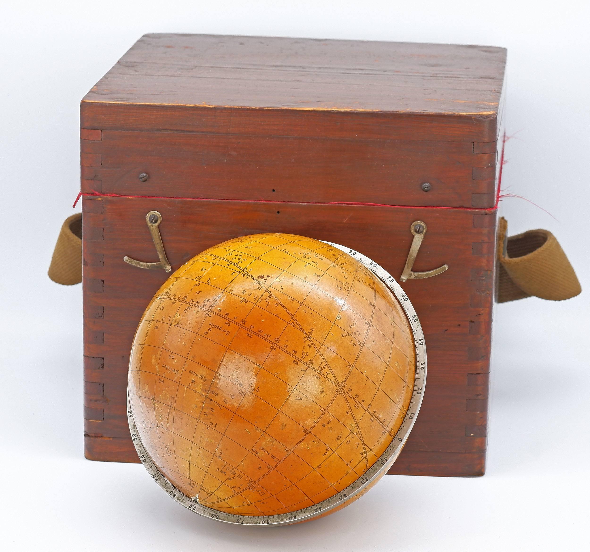 'Soviet Celestial Star Globe Dated 1968 in Original Box'