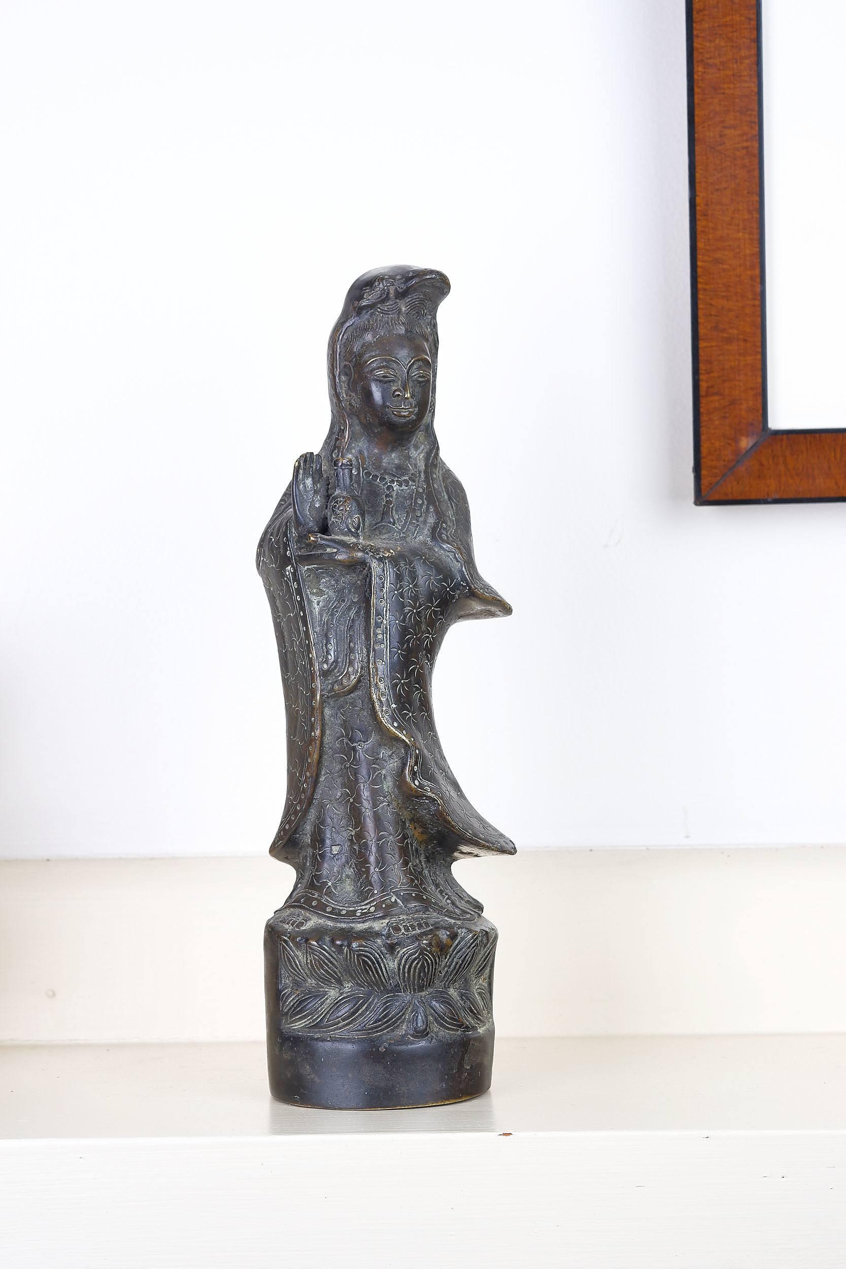 'Asian Bronze Figure of Guanyin'