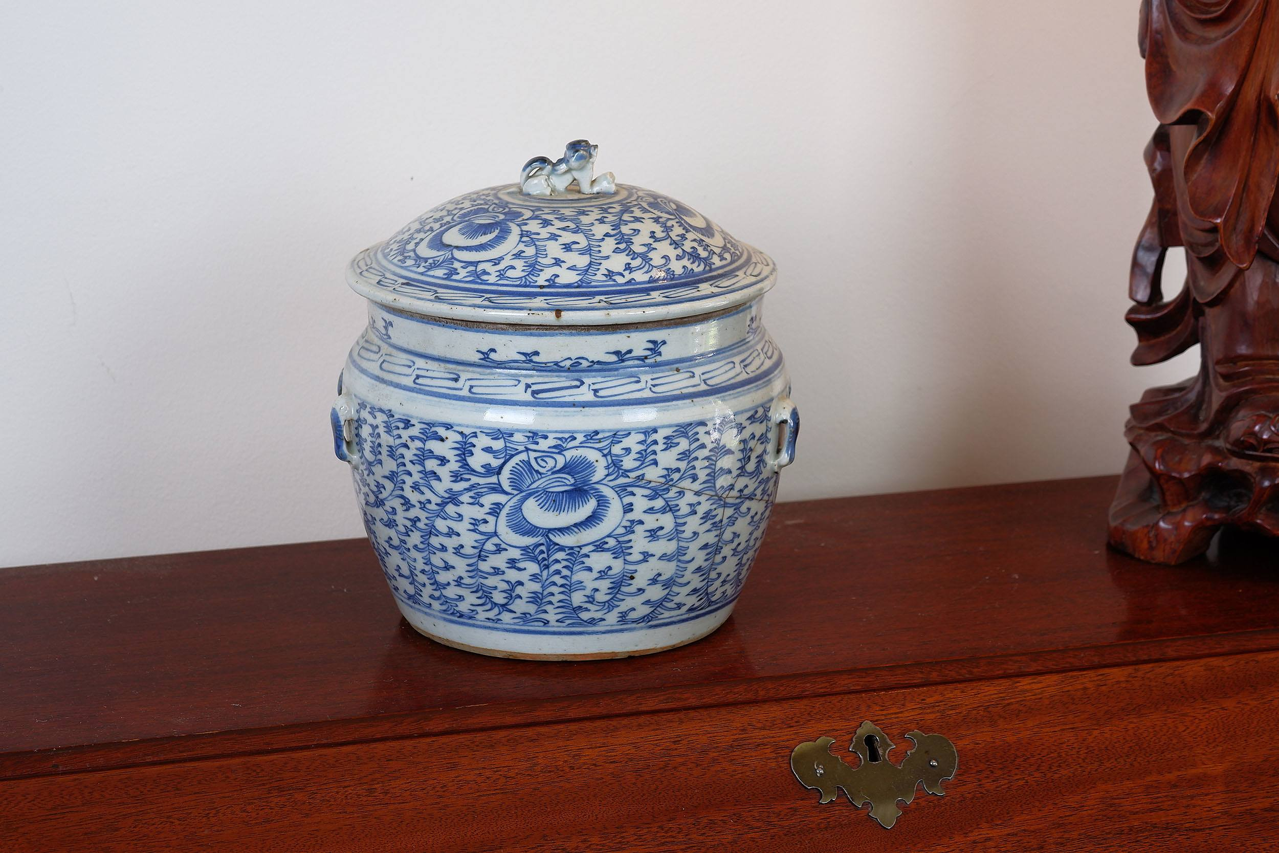 'Chinese Straits Blue and White Kamcheng'
