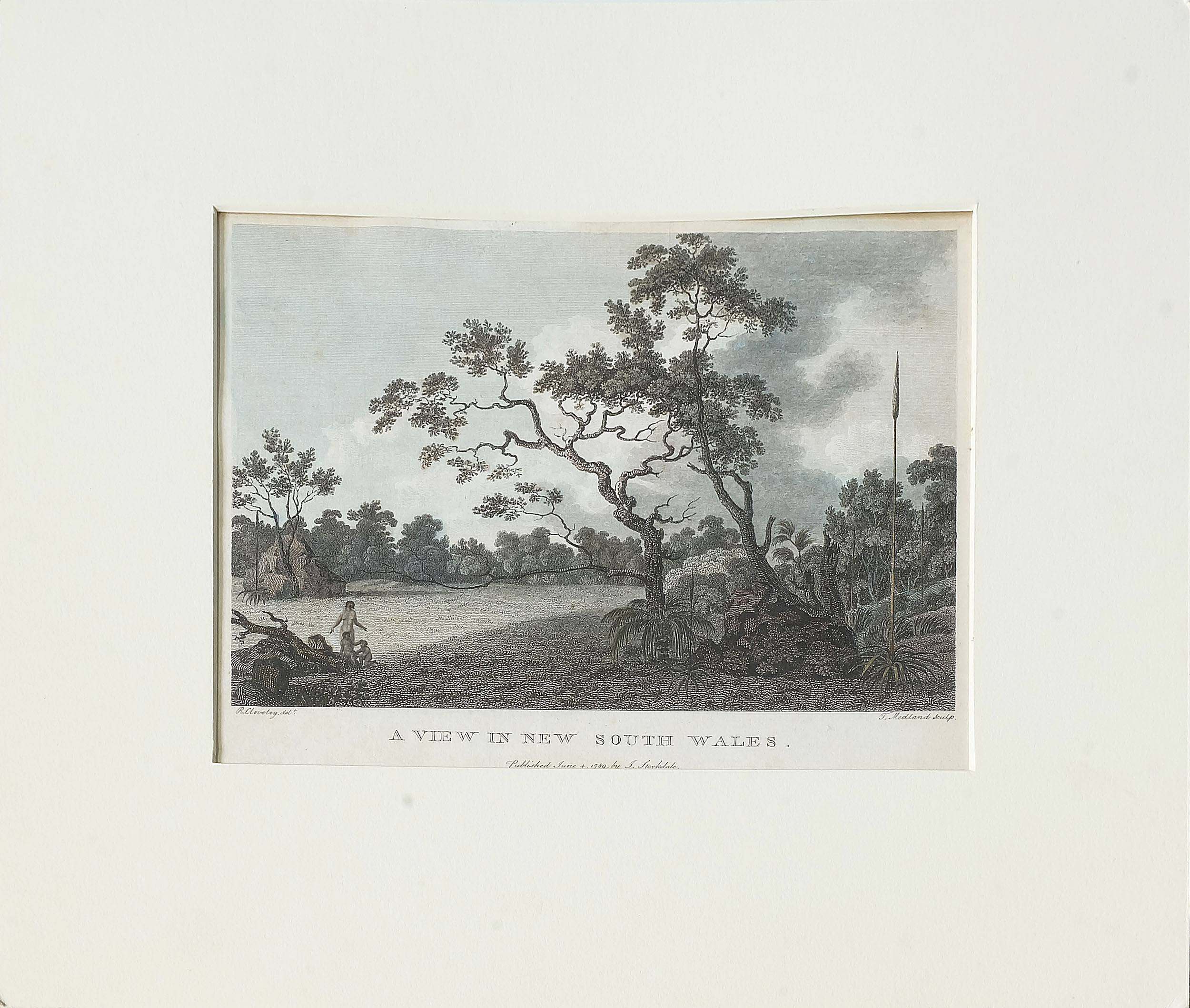 'Robert Cleveley (1747-1809) A View in New South Wales, Hand Coloured Engraving, Circa 1789'