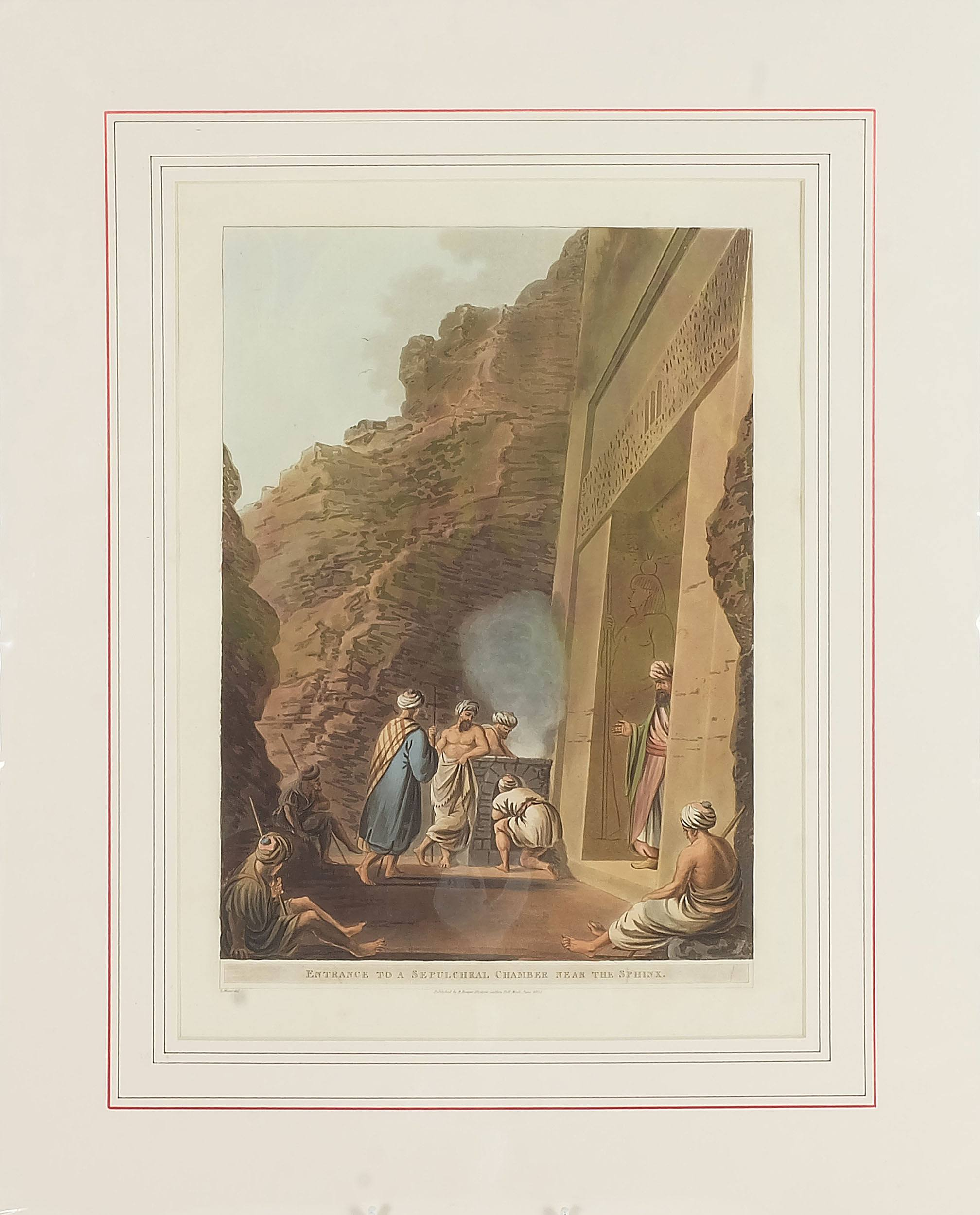 'Luigi Mayer (Italian 1755-1803) Entrance to a Sepulchral Chamber Near the Sphere, Colour Engraving, Circa 1802'