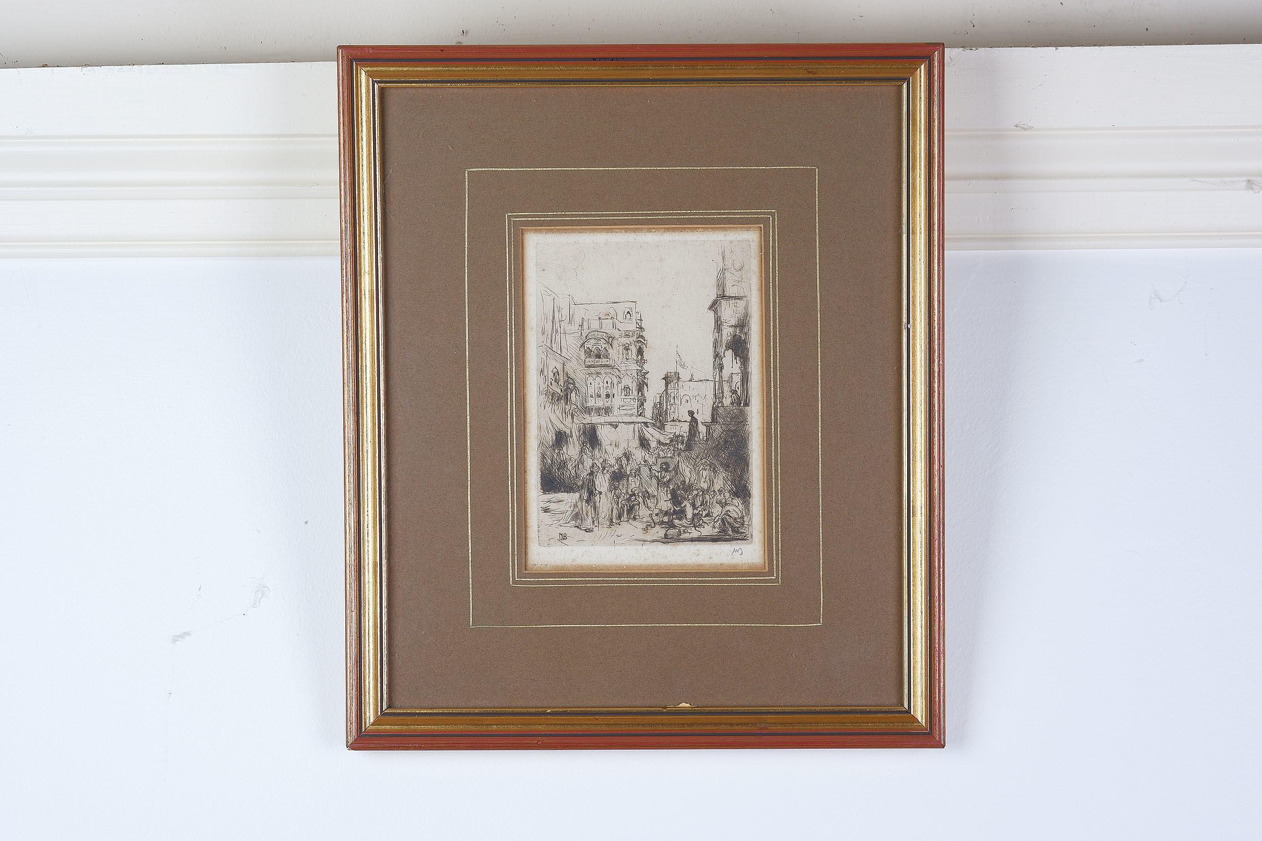 'Marius Bauer (Dutch 1867-1932) Etching'