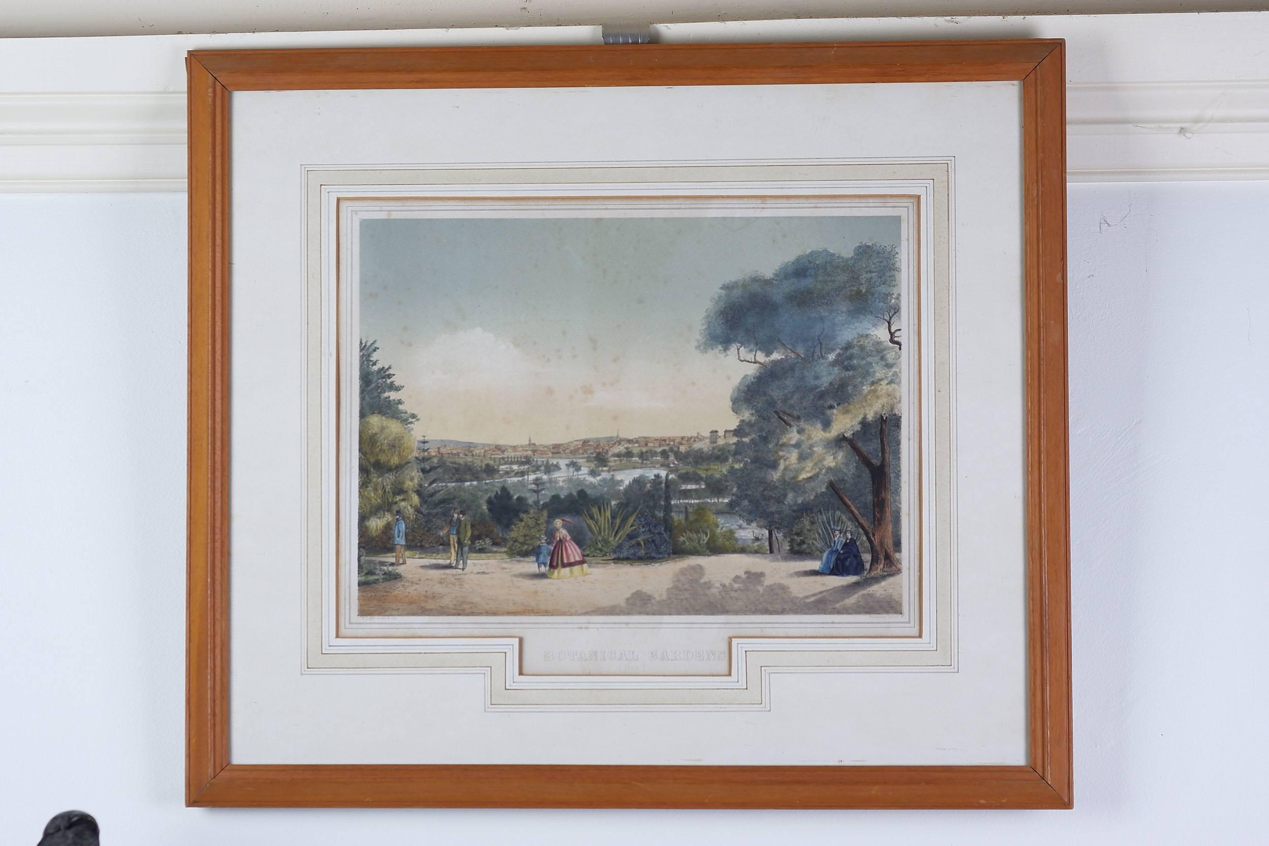 'After Francois Cogne (182901883) Botanical Gardens 1863, Hand Coloured Engraving '