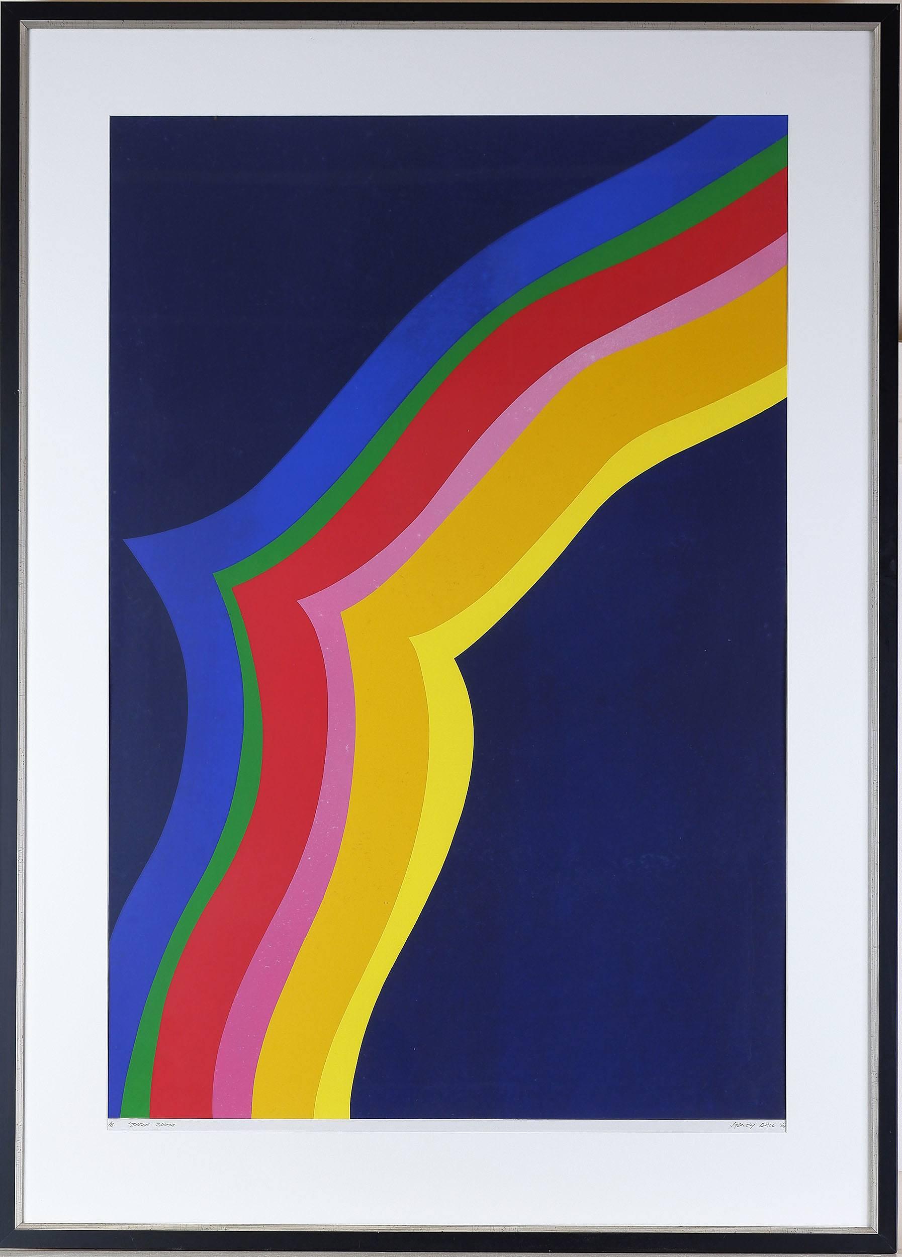 'Sydney Ball (1933-2017) Zafar Nama, From the Persian Series, Colour Screenprint, Edition 6/8'