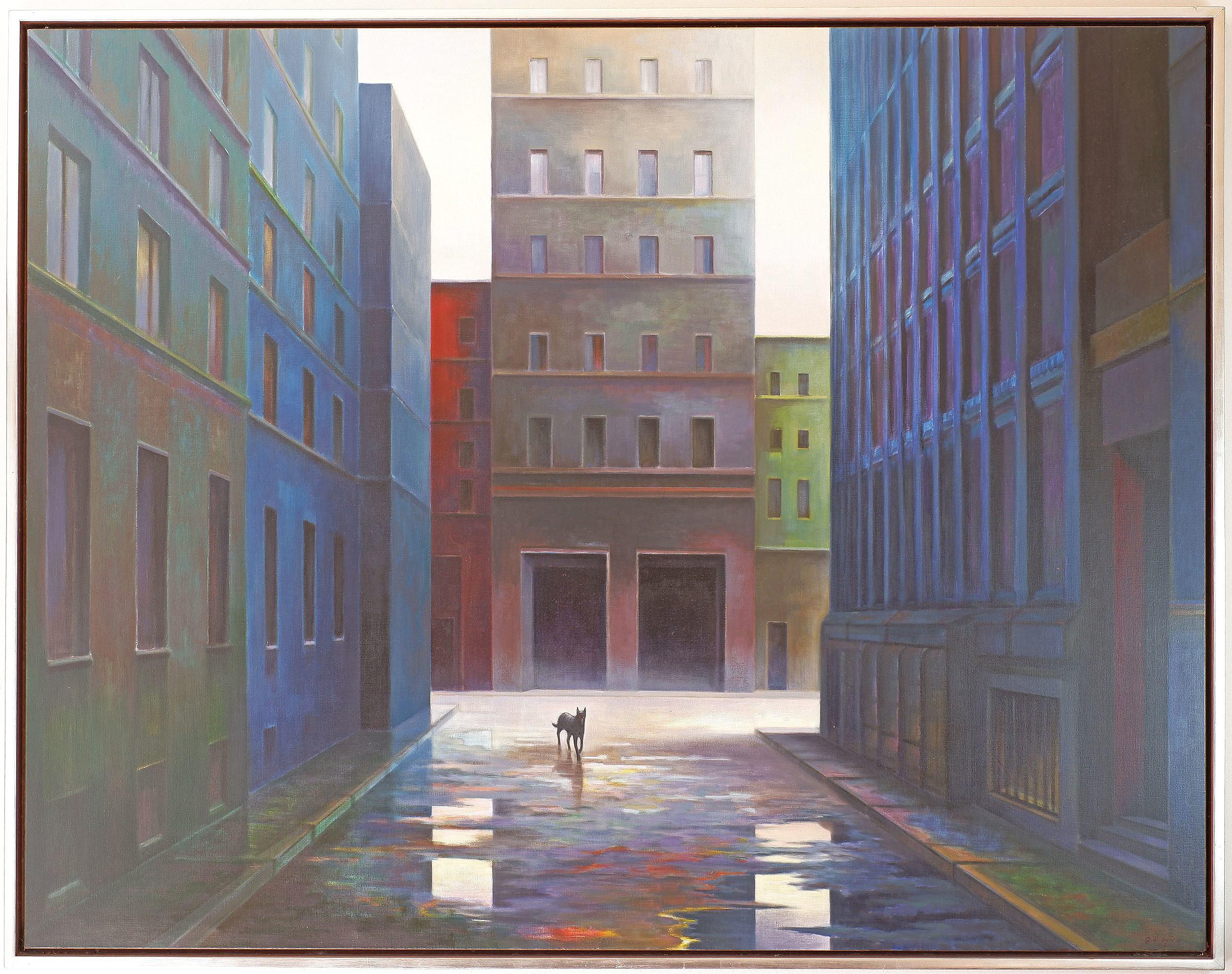 'Jerzy W Michalski (1949-) Dog Day 1999 Oil on Linen'