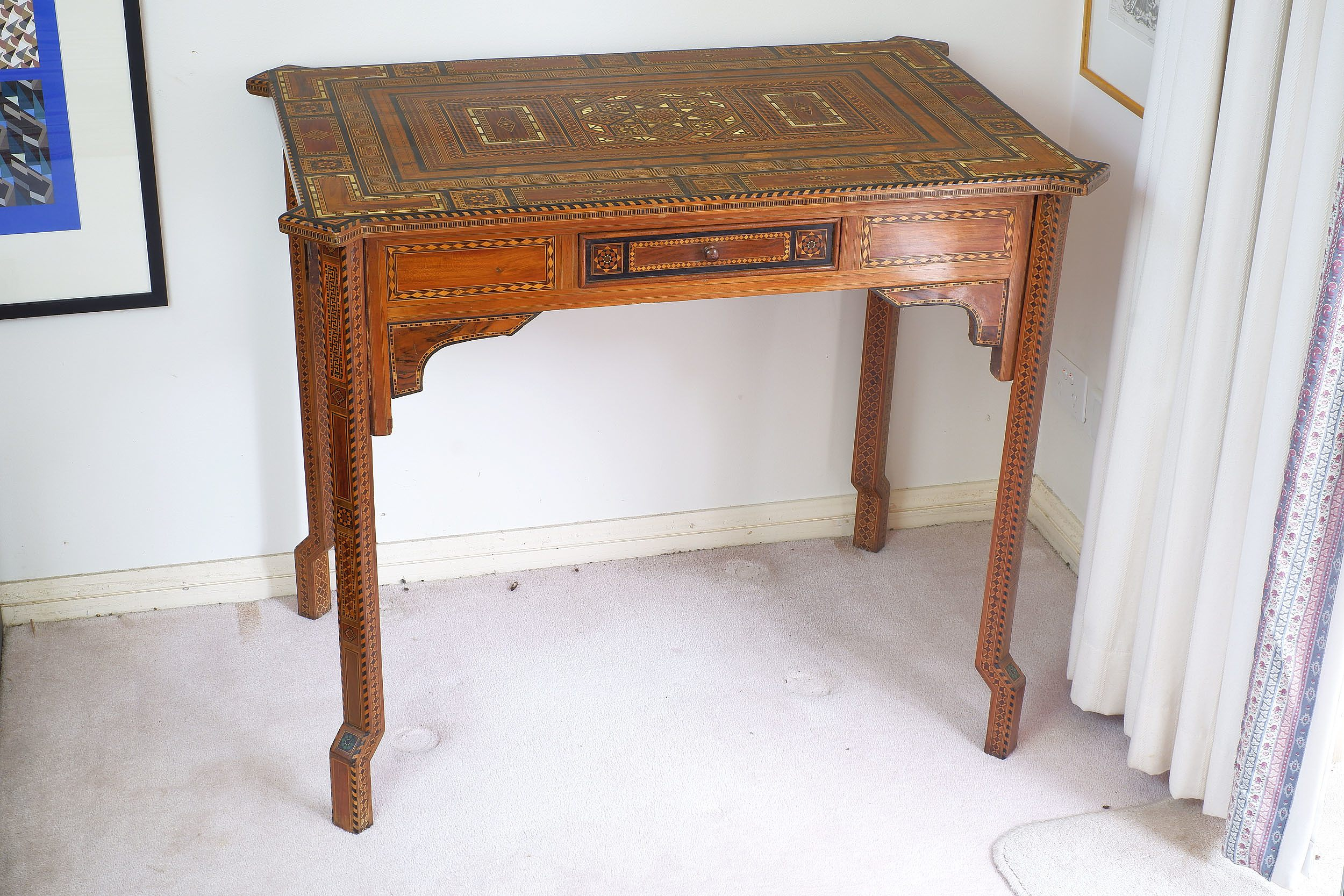 'Syrian Profusely Inlaid Side Table'