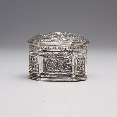 Burmese Repousse Silver Box, 122g