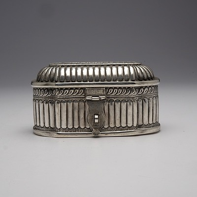 Burmese Repousse Sterling Silver Box, 306g