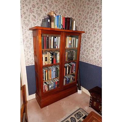 Solid Teak Glazed Bookcase