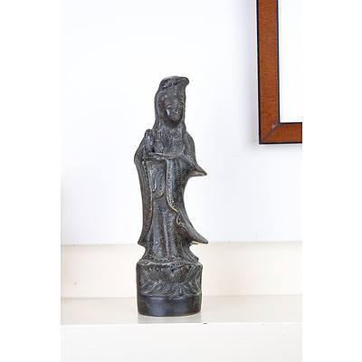 Asian Bronze Figure of Guanyin