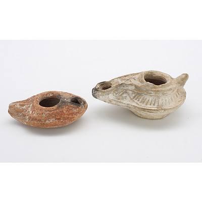 Two Small Roman Terracotta Lamps