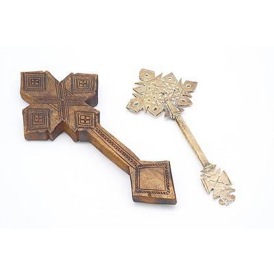 Two Ethiopian Coptic Crosses