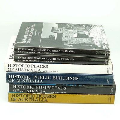 Early Buildings of Southern Tasmania Volumes 1 and 2, Historic Houses of Australia and More